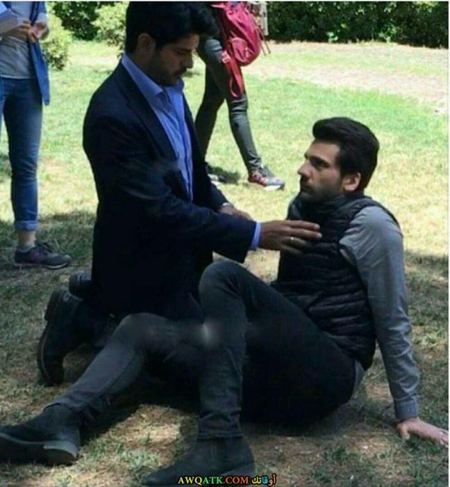 أحدث صورة للفنان التركي الجميل كان اورغانجي اوغلو من مسلسل حب أعمى