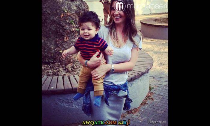 بيلين كارهان وابنها علي ديمير