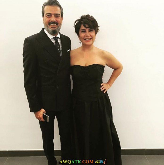 أجمل وأحلى صورة الفنانة ديفريم ياقوت مع زوجها