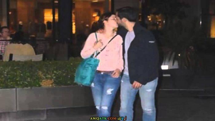 صورة للفنانة سلمى أرجيك مع زوجها