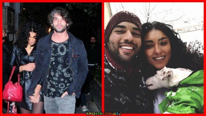 صورة للفنان التركي شكري أوزيلديز مع حبيبته