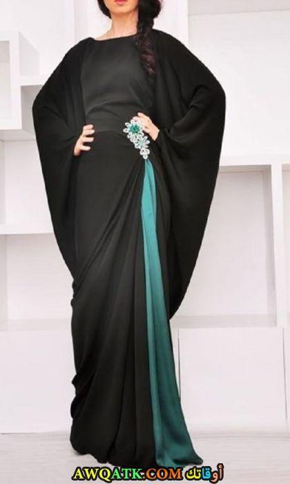 أجمل عباية خليجي سوارية باللون الأسود