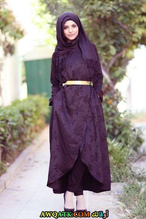 عباية خليجي باللون الموف لموضة 2017