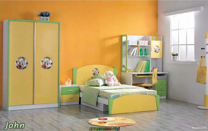 غرفة نوم باللون البرتقالي جميلة جداًَ