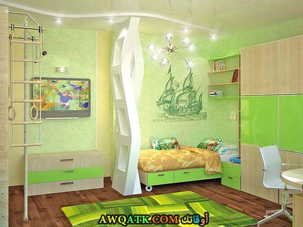 غرفة نوم أطفال خضراء 2017