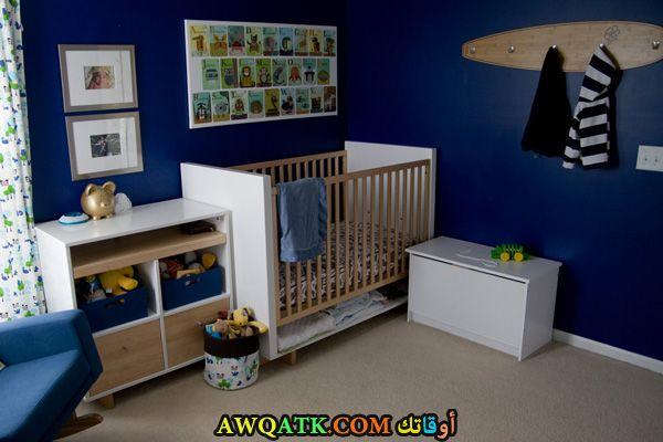 غرفة نوم أطفال زرقاء روعة