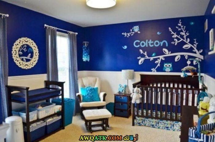 غرفة نوم أطفال زرقاء جميلة جداً