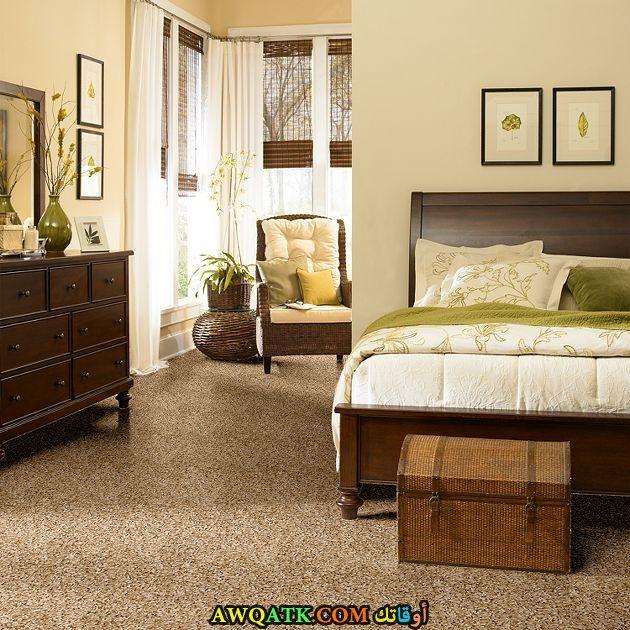 غرف نوم أي هوم باللون البني والبيج