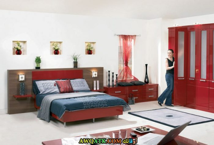 غرفة نوم هادئة وبسيطة تناسب الذوق الهادي