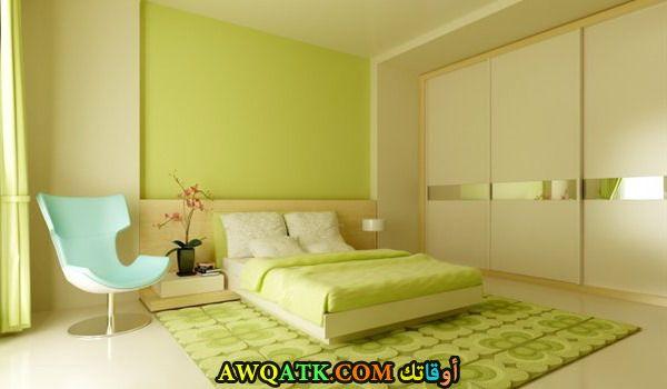 غرفة نوم خضراء مودرن