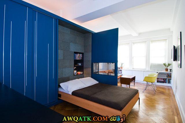 غرفة نوم زرقاء اللون تناسب مختلف المساحات