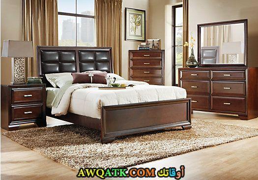غرفة نوم بنية شيك جداً