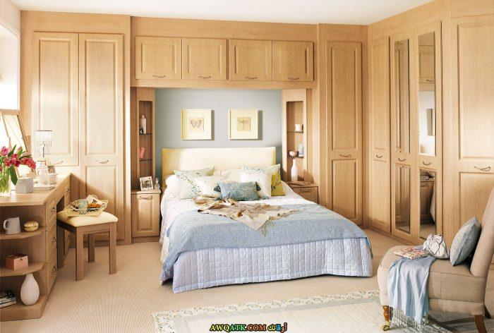 غرفة نوم باللون البيج جميلة جداً