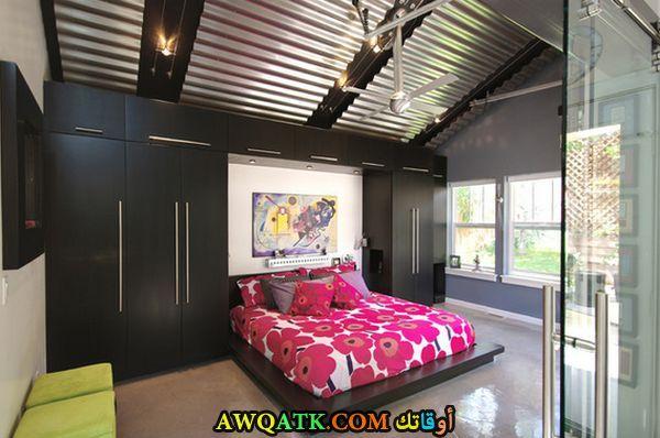 غرفة نوم كاملة مودرن باللون الأسود