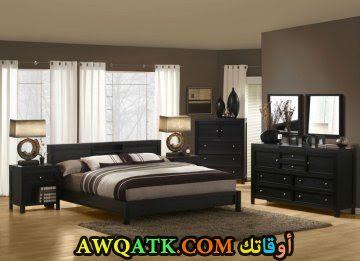 غرفة نوم سوداء مودرن 2017