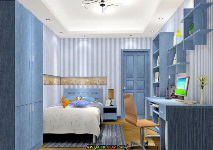 غرفة نوم بسيطة جداً تناسب أصحاب الذوق الهادي