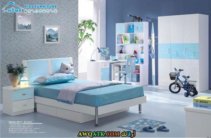 غرفة نوم شيك جداً باللون اللبني