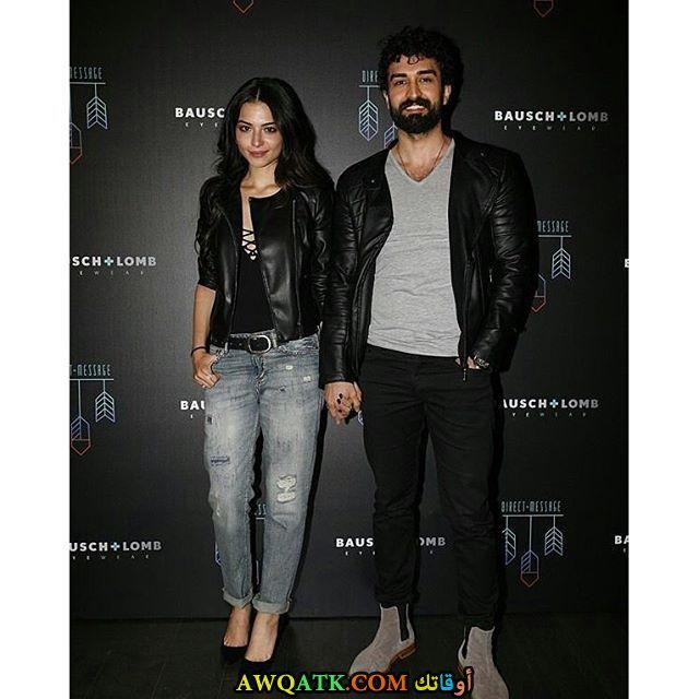 صورة جديدة ورائعة للنجمة التركية ميليسا اصلي وحبيبها