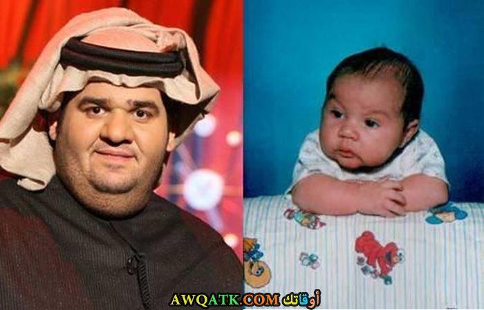 حسين الجسمي وهو صغير