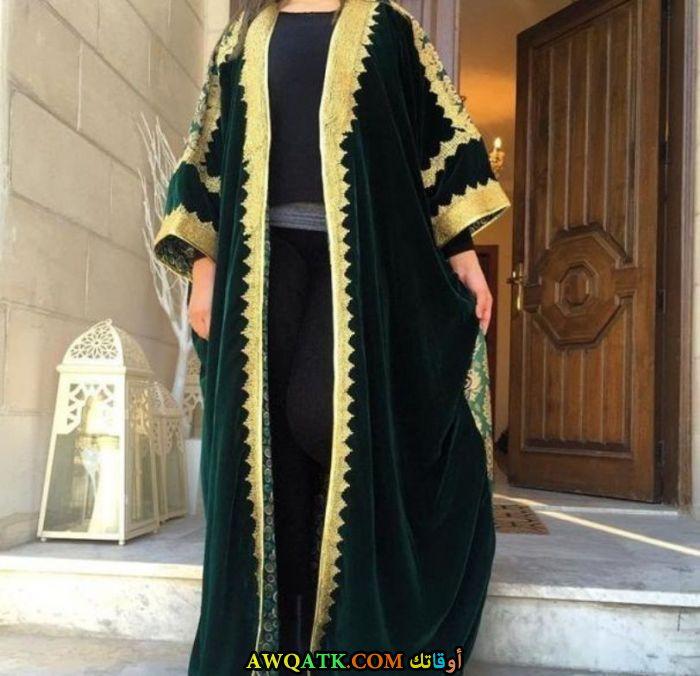 عباية قفطان خضراء مفتوحة 2017