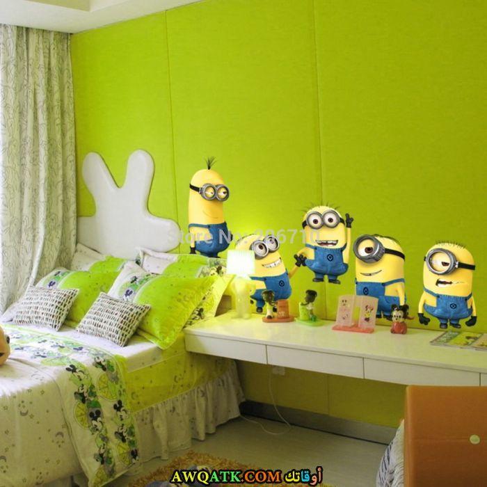 غرفة نوم ثري دي باللون الأخضر