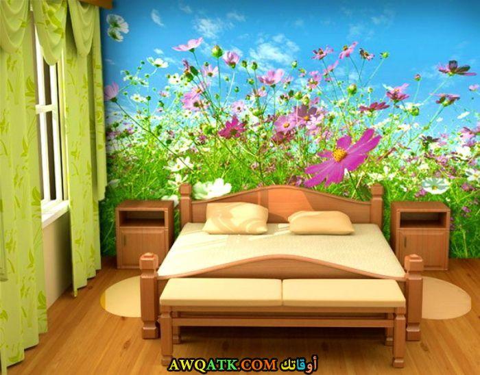 غرفة نوم باللون الأخضر جميلة جدا