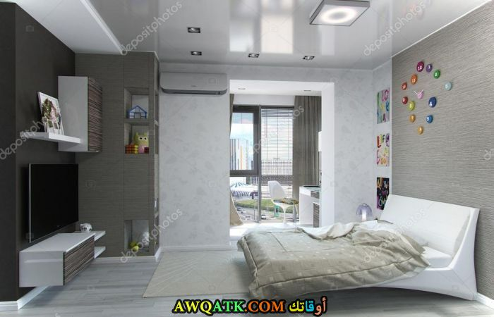 غرفة نوم ثري دي جميلة ورائعة