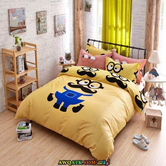 غرفة نوم ثري دي صفراء