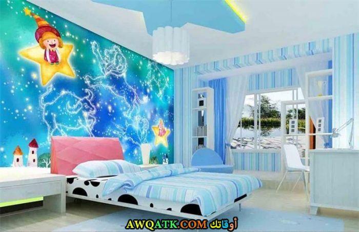 غرفة نوم لبني شيك ورائعة