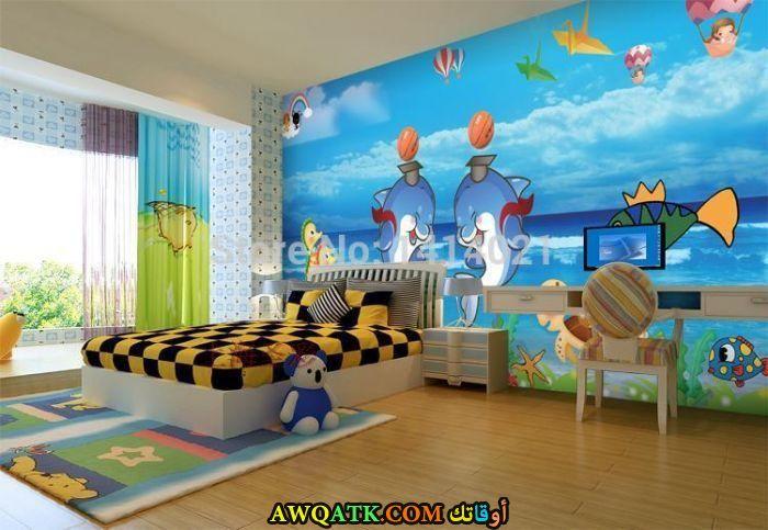 غرف نوم ثري دي باللون اللبني