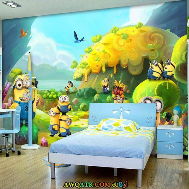 غرفة نوم باللون اللبني شيك جداً