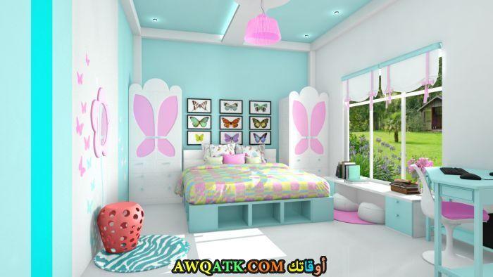 غرفة نوم ثري دي جميلة