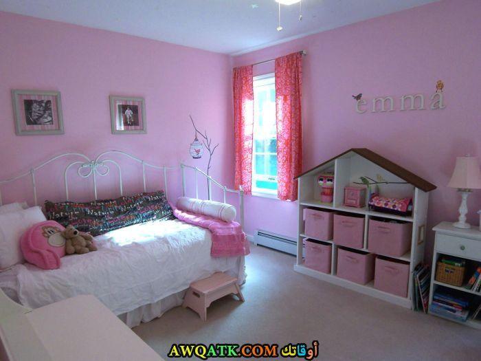 غرفة نوم حديد باللون البينك