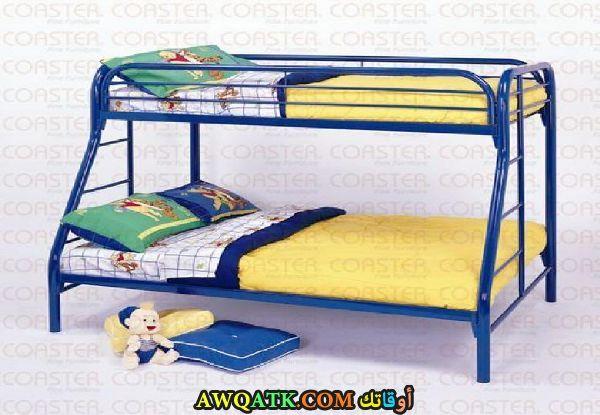 غرفة نوم زرقاء جميلة وروعة