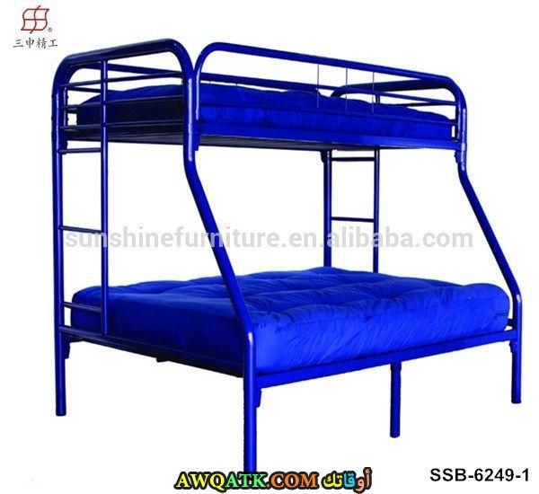 غرفة نوم زرقاء شيك جداً