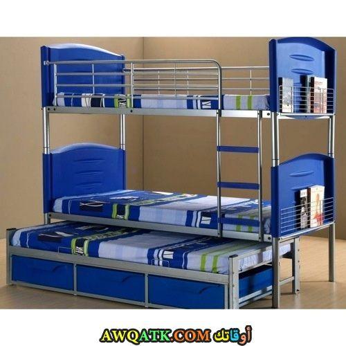 غرفة نوم حديد زرقاء