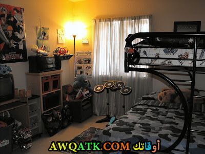 غرفة نوم أطفال حديد سوداء رائعة