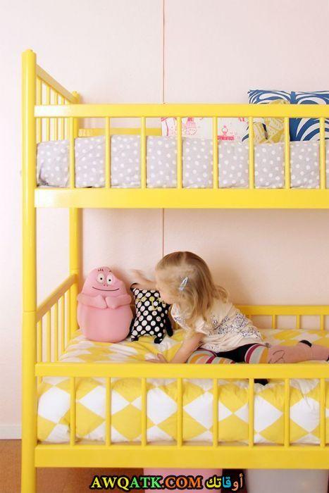 غرفة نوم صفراء رائعة