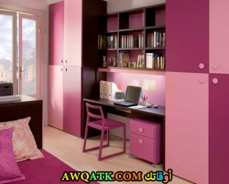 غرفة نوم جميلة جداً باللون البينك