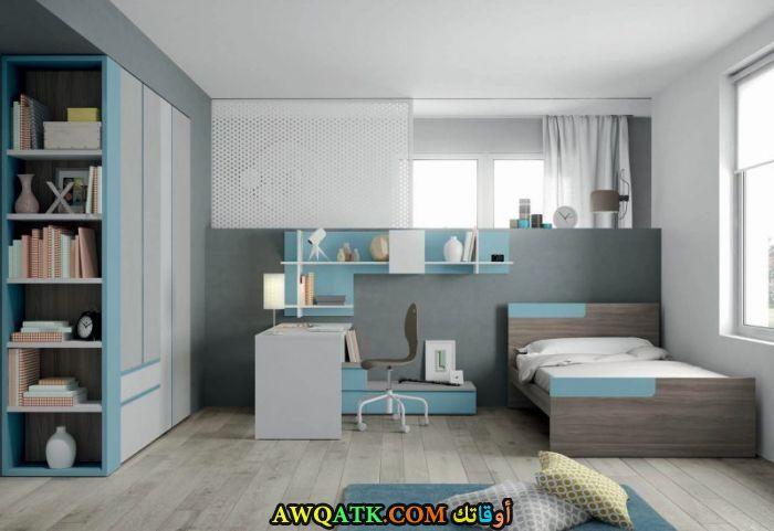 غرفة نوم أطفال باللون الرمادي