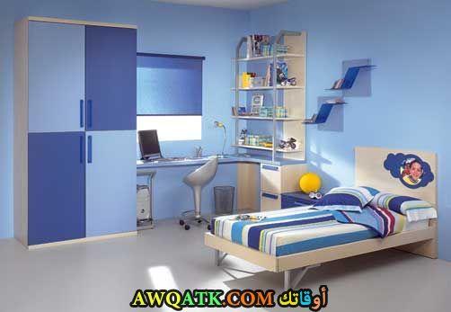 غرفة نوم زرقاء 2017