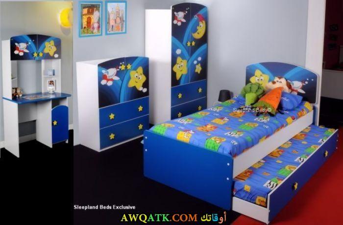 غرفة نوم باللون الأزرق جميلة وروعة