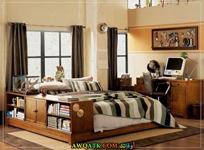 غرفة نوم جميلة باللون البني