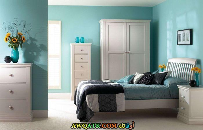 غرفة نوم شيك جداً باللون الأبيض