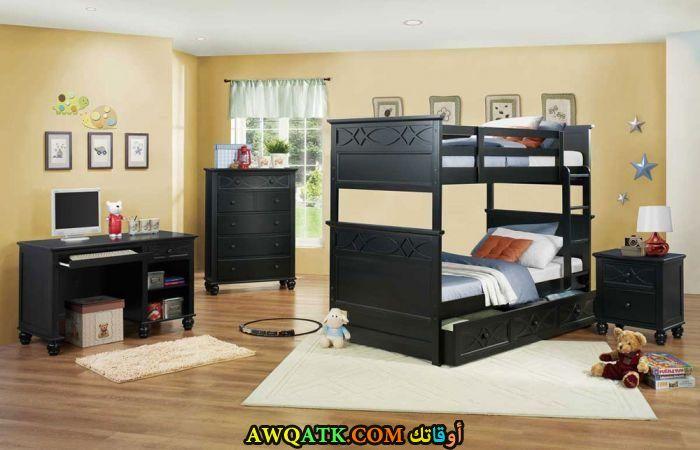 غرفة نوم باللون الأسود جميلة جداً
