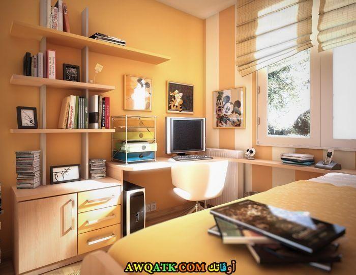 غرفة نوم عملية صفراء