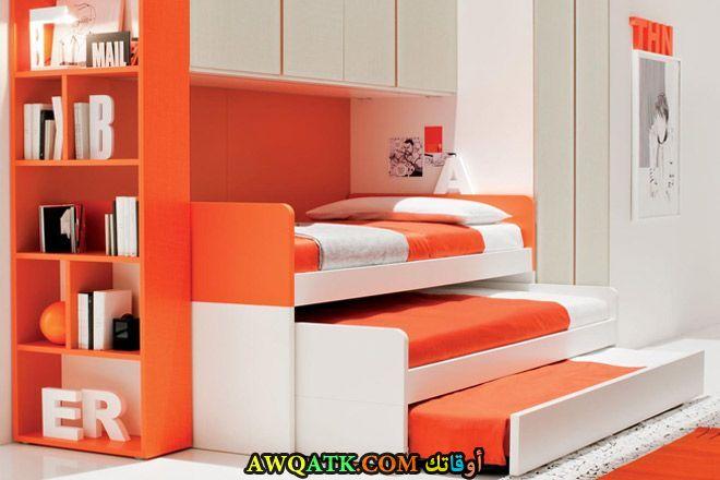 غرفة نوم برتقالية شيك جداً