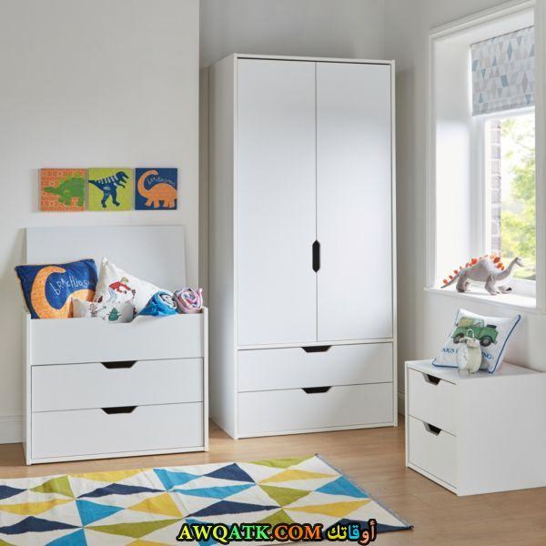 غرف نوم أطفال للمساحات الصغيرة باللون الأبيض والرمادي 2017