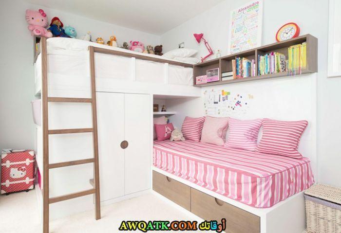 غرفة نوم بيضاء رائعة