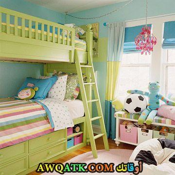 غرفة نوم باللون الأخضر 2017